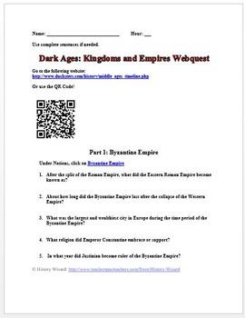 Dark Ages: Kingdoms and Empires Webquest