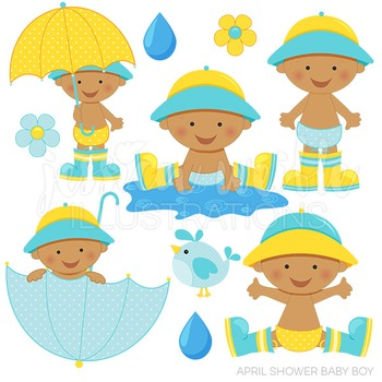 dark april shower baby boy cute digital clipart baby boy umbrella rh teacherspayteachers com  april images clip art free