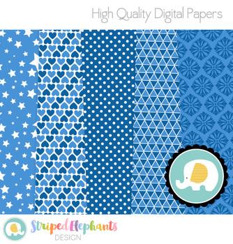Dark Blue Digital Papers