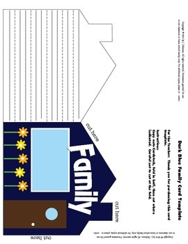 Dark Blue Family Writing Template