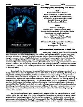 Dark City (1998) Study Guide Movie Packet