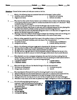 Dark City Film (1998) 15-Question Multiple Choice Quiz