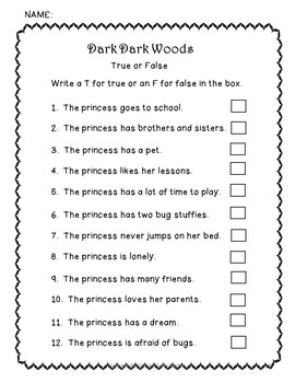 Dark Dark Woods video companion