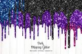 Dark Dripping Glitter Clipart
