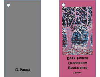 Dark Forest Classroom Bookmarks
