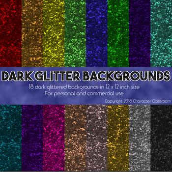 Dark Glitter Digital Scrapbooking Paper - Commercial Use OK