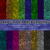 Dark Glitter Digital Scrapbooking Paper - Commercial Use OK