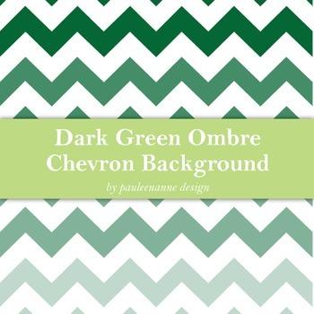 Dark Green Ombre Chevon Background