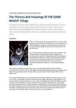 Dark Knight Booklet