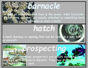 Dark Life Vocabulary Word Wall