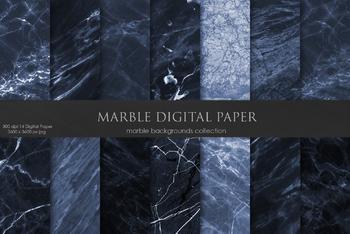 Dark Marble Digital Paper