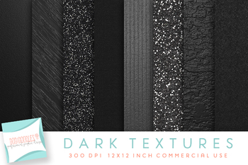 Dark Metallic Textures, Digital Paper, Black Metal, Black Glitter Sparkle