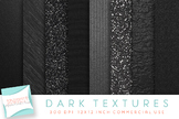 Dark Metallic Textures, Digital Paper, Black Metal, Black