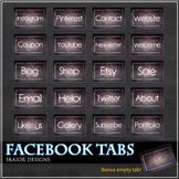 Dark Paper Facebook Tabs FB Icons Purple Timeline Crumbled