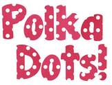 Dark Pink Polka Dot Alphabet