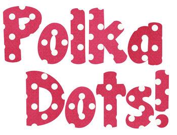 Dark Pink Polka Dot Alphabet