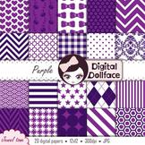 Dark Purple Backgrounds / Plum Digital Paper Pack