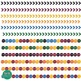 Clipart- Dark Rainbow Buntings, Banners & Borders Set