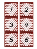 Dark Red Chevron Pattern Mailbox Labels/Number Labels