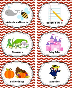 Dark Red Classroom Library Labels & Individual Book Labels {Editable}
