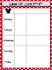 Dark Red Polkadot Mickey Inspired Monthly and Weekly Calendar Refill 2017-2018