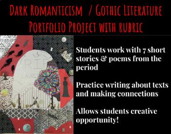 Dark Romanticism / Gothic Literature Portfolio Assignment & Rubric