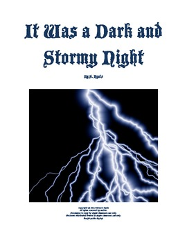 Dark Stormy Night Full Class Drama Club Elementary Readers' Theater