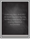 "Vocabulary Quiz- ""Dark They Were, and Golden Eyed"" by Ray Bradbury"