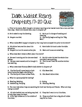 Dark Water Rising Quiz: Chapters 17-20