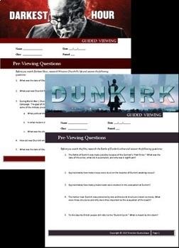 Darkest Hour - Dunkirk (2017) DOUBLE FEATURE! - Movie Guide Bundle - Worksheets