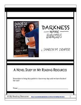 Darkness Before Dawn by Sharon Draper Novel Study Guide
