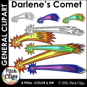 Darlene's Comet Clip art (Clip Art) Flying Star - Commercial Use, SMART OK!