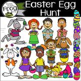 Easter Egg Hunt Friends and More Clip Art
