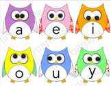 Darling Little Vowel Owls!! - Homeschool, Gogokid, VIPkid,