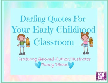 Darling Posters For Your Early Childhood Classroom