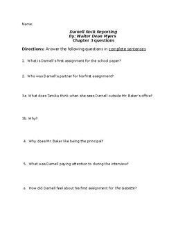 Darnell Rock Reporting Chapter 3  Questions