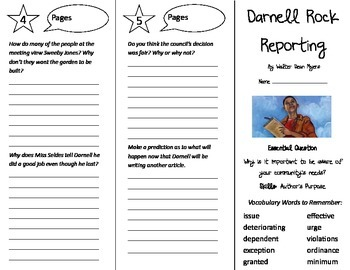 Darnell Rock Reporting Trifold - Journeys 5th Grade Unit 4 Week 4 (2014, 2017)