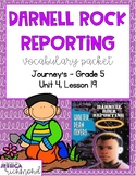 Darnell Rock Reporting - Vocabulary Packet