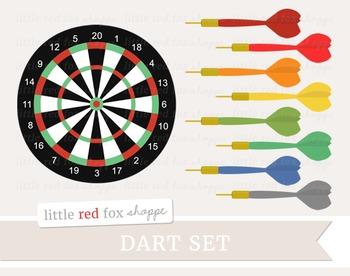 Dart Clipart; Game, Board, Target