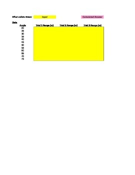 Dart Gun Projectiles Lab Grading Spreadsheet