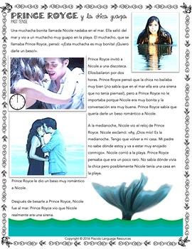 Darte un beso Song Activity / Movie Talk / Reading Packet