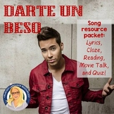 Darte un beso Song Activity / Movie Talk / Reading Packet