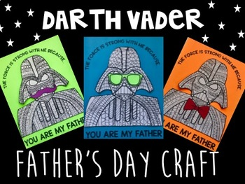 Darth Vader Father's Day Craft