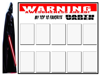 Darth Vader Research Graphic Organizer