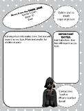 Darth Vader Star Wars Themed newsletter template