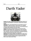 Darth Vader - Star Wars informational article lesson facts questions word search