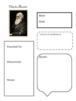 Darwin Biography Notebooking Page