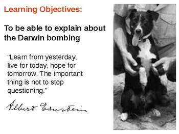 Darwin bombing World War Two and Gunner the Dog