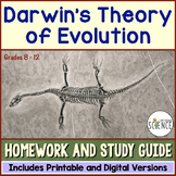 Evolution Homework   Printable and Digital Distance Learning