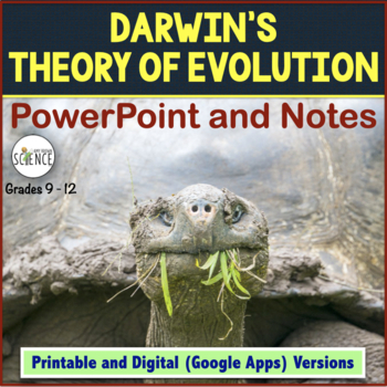 Evolution PowerPoint and Notes | Printable and Digital Distance Learning